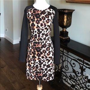 Bebe Leopard Long Sleeve Mini